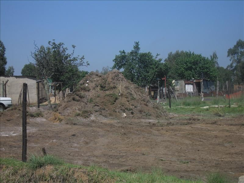 Ground piled from the site clearing for the daycare centre 2011